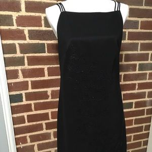Little Black Dress Sangria Sz 10 Straps Beaded